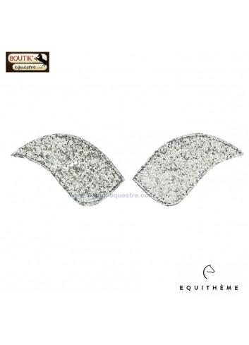 Ecusson EQUITHEME pour bottes My Primera - glitter argent