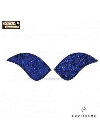 Ecusson EQUITHEME pour bottes My Primera - glitter bleu