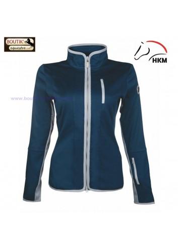 Veste HKM Softshell Equilibrio Style - bleu foncé / gris clair