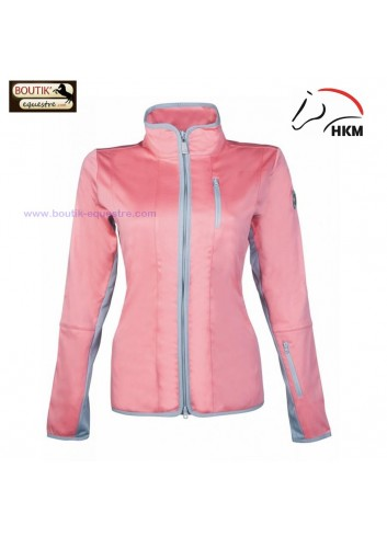 Veste HKM Softshell Equilibrio Style - corail / gris clair