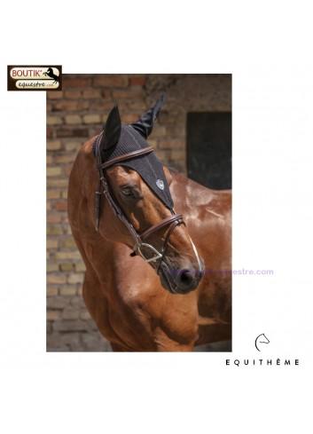 Bonnet Chasse Mouches EQUITHEME Long Sport - noir