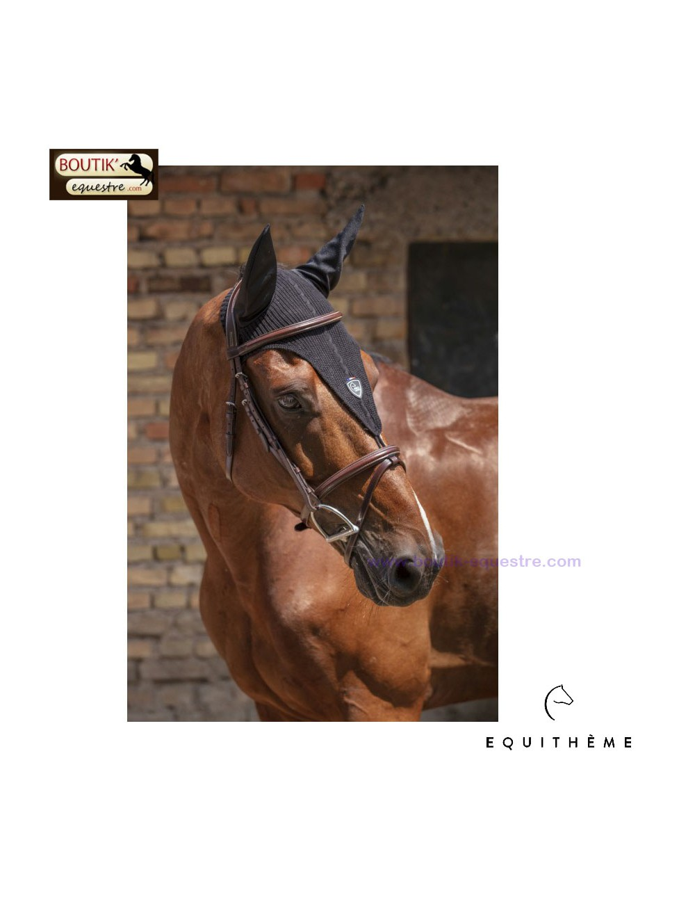Bonnet Chasse Mouches EQUITHEME Long Sport
