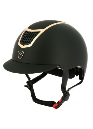 Casque EQUITHEME Airy - noir insert rose gold