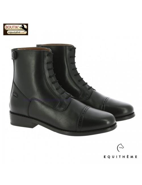 Boots EQUITHEME Dauville à lacets et zip