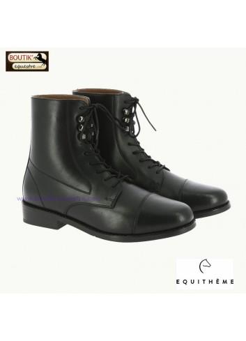 Boots EQUITHEME Dauville à lacets - noir