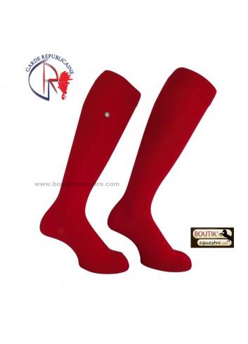 Chaussettes Garde Républicaine en Coton - rouge