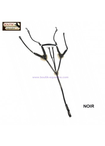 Collier de chasse Protanner 4 points Duo - noir