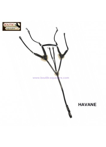 Collier de chasse Protanner 4 points Duo - havane