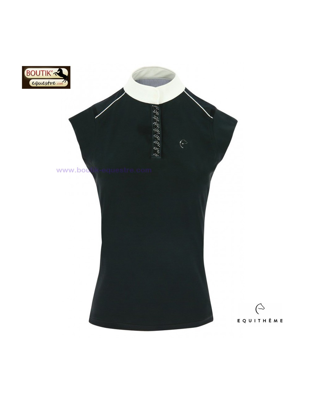 Polo EQUITHEME Brussels avec Strass