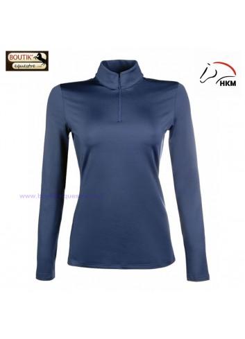 Shirt HKM Fonctionnel Basic ML - bleu fonce