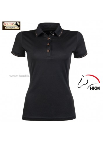 Polo HKM Rosegold Glamour - noir / rosegold