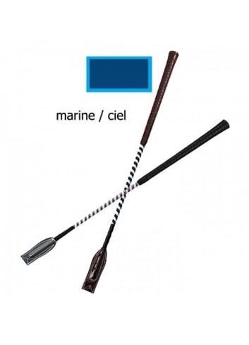 Cravache de concours - marine / ciel