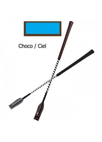 Cravache de concours - chocolat / ciel