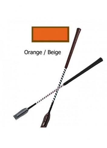 Cravache de concours - orange / beige
